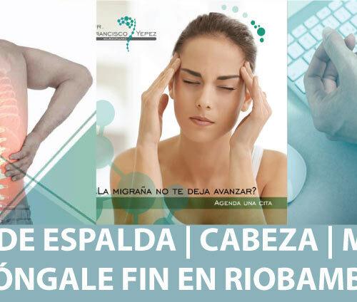 Dolor de espalda Riobamba | Lumbalgia | Dolor de Cabeza | Dolor de Muñeca